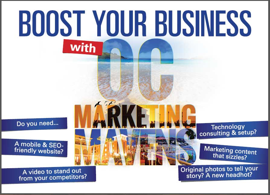 OC Marketing Mavens Specials Package Postcard Front Side by Neo Design Concepts