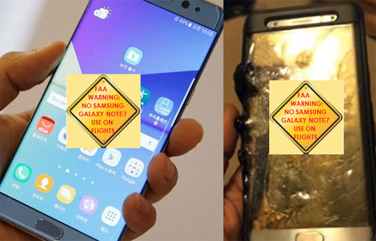 FAA Warning For Samsung Galaxy Note7
