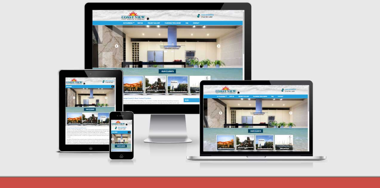 Neo Design Concepts responsive website design for-coast-view-plumbing