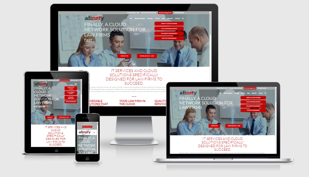 Afinety Website Design Development