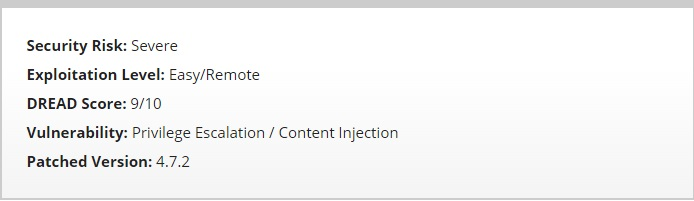 WordPress Content Injection Severe Security Risk Level_Neo Design Concepts