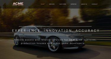 ACME Digital Content website design development_Neo Design Concepts LLC