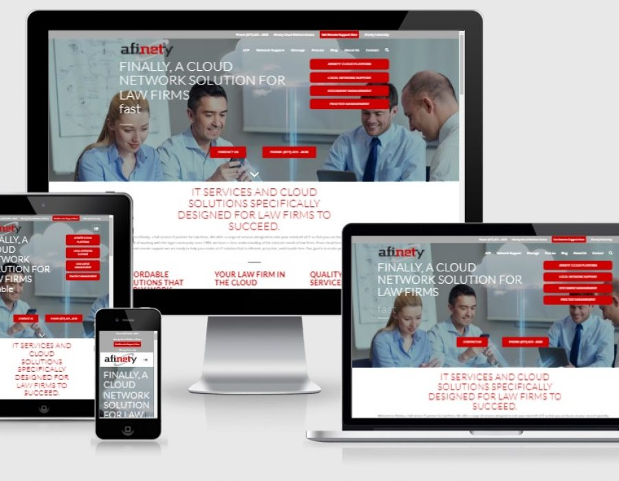 Afinety Responsive Website Design Development